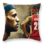 Lebron James Artwork 1 Throw Pillow