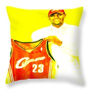 Lebron James Going Home Throw Pillow