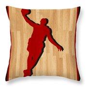 Lebron James Miami Heat Throw Pillow