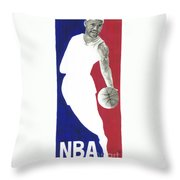 Lebron Nba Logo Throw Pillow by Tamir Barkan