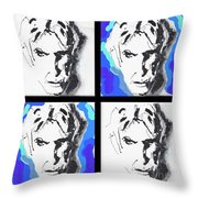 Lectric Blue Collage Throw Pillow