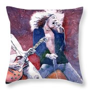 Led Zeppelin Jimmi Page And Robert Plant  Throw Pillow by Yuriy  Shevchuk