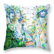 Led Zeppelin - Watercolor Portrait.2 Throw Pillow