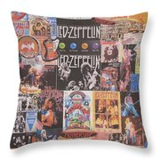 Led Zeppelin Years Collage Throw Pillow