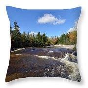 Ledge Falls Maine Throw Pillow