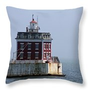 Ledge Light - Connecticut's House In The River  Throw Pillow