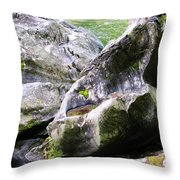 Ledge Worn Smooth By Centuries Of Water And Ice Throw Pillow