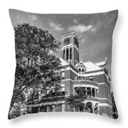 Lee County Courthouse In Giddings Texas Throw Pillow