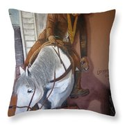 Lee Marvin Cat Ballou Homage 1965 Mural  Kid Chillean's Black Canyon Arizona  2005 Throw Pillow