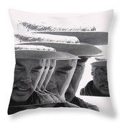 Lee Marvin Monte Walsh Collage Variation 2 Old Tucson Arizona 1969-2012 Throw Pillow