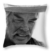 Lee Marvin Monte Walsh Set  Old Tucson Arizona 1969 Throw Pillow