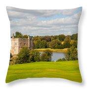Leeds Castle Golf 2 Throw Pillow