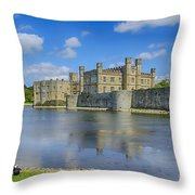 Leeds Castle Moat 2 Throw Pillow