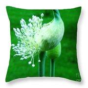 Leek Flower Throw Pillow