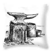 Lee's Anvil Throw Pillow