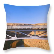 Lees Ferry In Marble Canyon, Navajo Throw Pillow