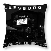 Leesburg Bikefest 2013 Poster Work One Throw Pillow