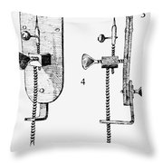 Leeuwenhoek: Microscope Throw Pillow