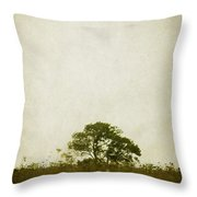 Left Alone In A Pasture Throw Pillow