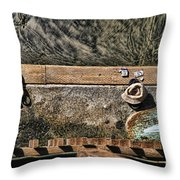 Left Behind By Diana Sainz Throw Pillow
