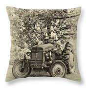 Left Fielder Antique Throw Pillow