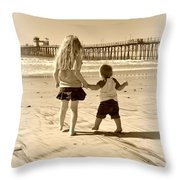 Left Foot Right Foot Throw Pillow