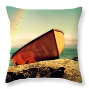 Left High And Dry Throw Pillow