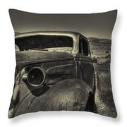 Left In The Hills Throw Pillow