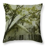 Left In The Trees Throw Pillow