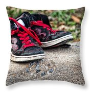 Left On The Curb Throw Pillow