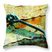 Left Open Throw Pillow