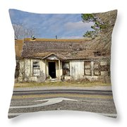 Left Turn Throw Pillow