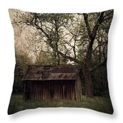 Left Untouched Throw Pillow