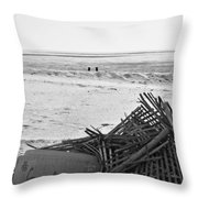 Leftovers From Hurricane Sandy Throw Pillow