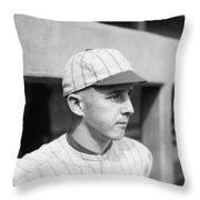Lefty Williams (1893-1959) Throw Pillow