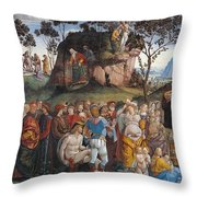 Legacy And Death Of Moses Throw Pillow