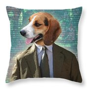 Legal Beagle Throw Pillow by Nikki Smith