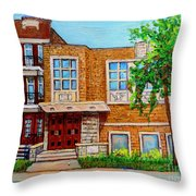 Legare And Hutchison Synagogue Montreal Throw Pillow