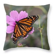 Legend Of The Butterfly - Monarch Butterfly - Casper Wyoming Throw Pillow