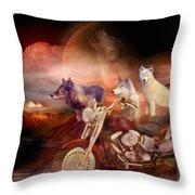 Legend Of Wolf Mountain Throw Pillow
