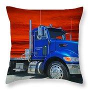 Legendairy Farms Peterbilt Catr3127-12 Throw Pillow