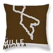 Legendary Races - 1927 Mille Miglia Throw Pillow