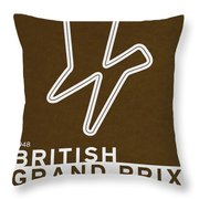 Legendary Races - 1948 British Grand Prix Throw Pillow
