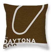 Legendary Races - 1959 Daytona 500 Throw Pillow