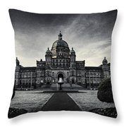 Legislature Building British Columbia Victoria Throw Pillow