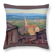 L'eglise Sur La Colline Throw Pillow