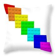 Lego Box White Throw Pillow