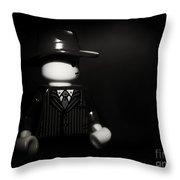 Lego Film Noir 1 Throw Pillow