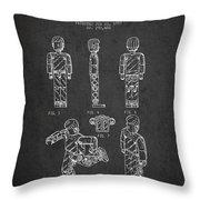 Lego Toy Figure Patent - Dark Throw Pillow
