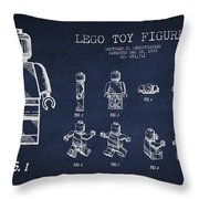 Lego Toy Figure Patent Drawing Throw Pillow